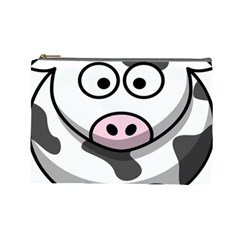 Animals Cow  Face Cute Cosmetic Bag (large)  by Alisyart