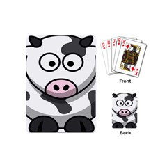 Animals Cow  Face Cute Playing Cards (mini)  by Alisyart