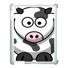 Animals Cow  Face Cute Apple Ipad 3/4 Case (white)