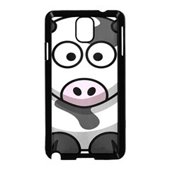 Animals Cow  Face Cute Samsung Galaxy Note 3 Neo Hardshell Case (black)