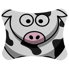 Animals Cow  Face Cute Jigsaw Puzzle Photo Stand (bow)