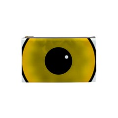 Big Eye Red Black Cosmetic Bag (small)  by Alisyart