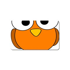 Bird Big Eyes Orange Magnet (name Card)