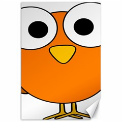 Bird Big Eyes Orange Canvas 20  X 30   by Alisyart