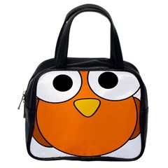 Bird Big Eyes Orange Classic Handbags (one Side) by Alisyart