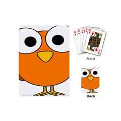 Bird Big Eyes Orange Playing Cards (mini)