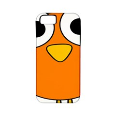 Bird Big Eyes Orange Apple Iphone 5 Classic Hardshell Case (pc+silicone)