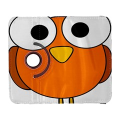 Bird Big Eyes Orange Galaxy S3 (flip/folio) by Alisyart