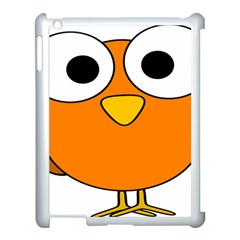 Bird Big Eyes Orange Apple Ipad 3/4 Case (white)