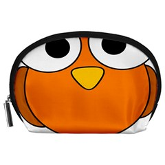Bird Big Eyes Orange Accessory Pouches (large)