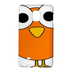 Bird Big Eyes Orange Galaxy Note Edge by Alisyart
