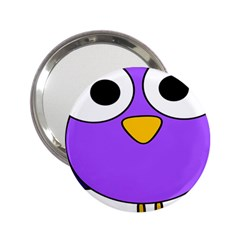Bird Big Eyes Purple 2 25  Handbag Mirrors