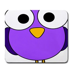 Bird Big Eyes Purple Large Mousepads by Alisyart