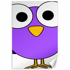 Bird Big Eyes Purple Canvas 20  X 30   by Alisyart