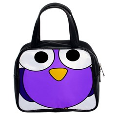 Bird Big Eyes Purple Classic Handbags (2 Sides) by Alisyart