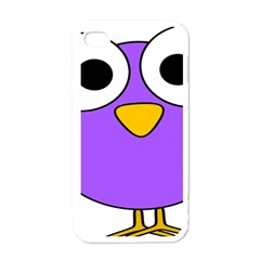Bird Big Eyes Purple Apple Iphone 4 Case (white)