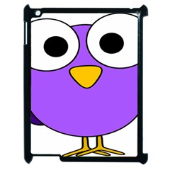 Bird Big Eyes Purple Apple Ipad 2 Case (black)