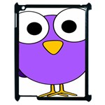 Bird Big Eyes Purple Apple iPad 2 Case (Black) Front