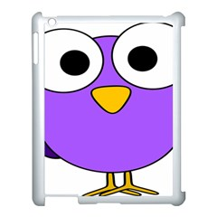 Bird Big Eyes Purple Apple Ipad 3/4 Case (white)