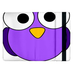 Bird Big Eyes Purple Samsung Galaxy Tab Pro 12 2  Flip Case