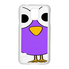 Bird Big Eyes Purple Samsung Galaxy S5 Case (white)