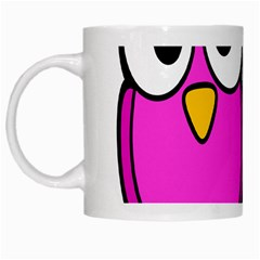 Bird Big Eyes Pink Blue White Mugs by Alisyart
