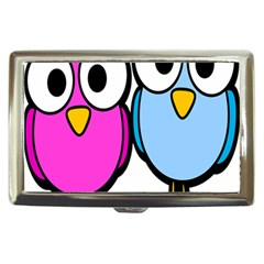 Bird Big Eyes Pink Blue Cigarette Money Cases