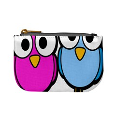 Bird Big Eyes Pink Blue Mini Coin Purses