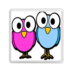 Bird Big Eyes Pink Blue Memory Card Reader (square)  by Alisyart