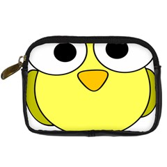 Bird Big Eyes Yellow Green Digital Camera Cases