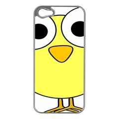 Bird Big Eyes Yellow Green Apple Iphone 5 Case (silver) by Alisyart