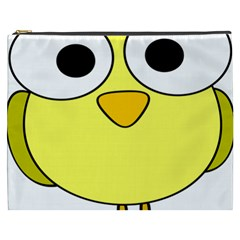 Bird Big Eyes Yellow Green Cosmetic Bag (xxxl)