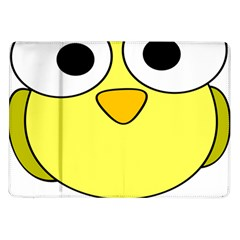 Bird Big Eyes Yellow Green Samsung Galaxy Tab 10 1  P7500 Flip Case