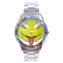 Bug Eye Tounge Stainless Steel Analogue Watch by Alisyart