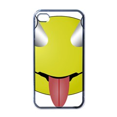 Bug Eye Tounge Apple Iphone 4 Case (black) by Alisyart