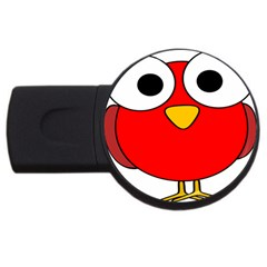 Bird Big Eyes Red Usb Flash Drive Round (2 Gb) by Alisyart