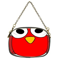 Bird Big Eyes Red Chain Purses (two Sides)