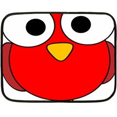 Bird Big Eyes Red Fleece Blanket (mini)