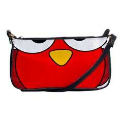 Bird Big Eyes Red Shoulder Clutch Bags by Alisyart