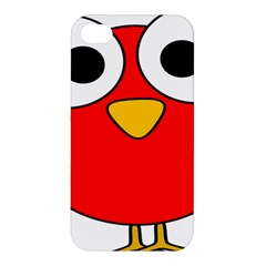 Bird Big Eyes Red Apple Iphone 4/4s Premium Hardshell Case by Alisyart