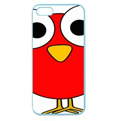 Bird Big Eyes Red Apple Seamless Iphone 5 Case (color)