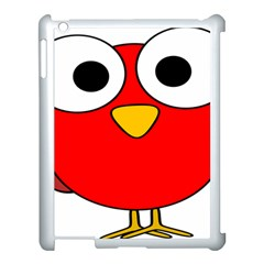Bird Big Eyes Red Apple Ipad 3/4 Case (white)