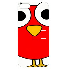 Bird Big Eyes Red Apple Iphone 5 Hardshell Case With Stand by Alisyart