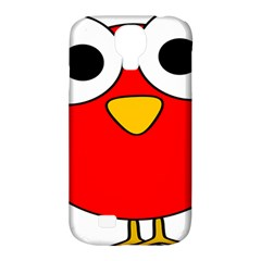 Bird Big Eyes Red Samsung Galaxy S4 Classic Hardshell Case (pc+silicone) by Alisyart