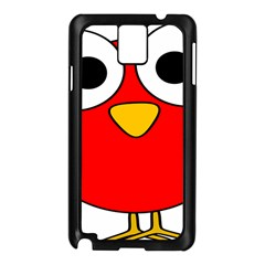 Bird Big Eyes Red Samsung Galaxy Note 3 N9005 Case (black) by Alisyart