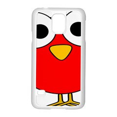 Bird Big Eyes Red Samsung Galaxy S5 Case (white)