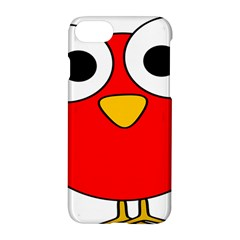 Bird Big Eyes Red Apple Iphone 7 Hardshell Case by Alisyart
