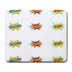 Boom Pow Pop Sign Large Mousepads by Alisyart