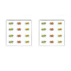 Boom Pow Pop Sign Cufflinks (square) by Alisyart