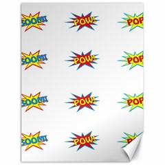 Boom Pow Pop Sign Canvas 18  X 24   by Alisyart
